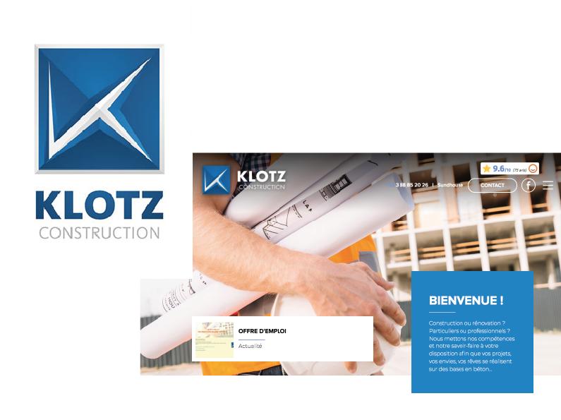 réalisation Média Storming : logo, site internet de Klotz Construction