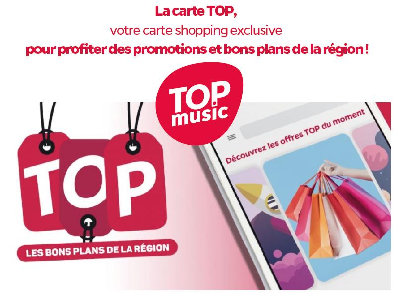 La Carte Top, votre carte Shopping avec les bons plans Top Music !