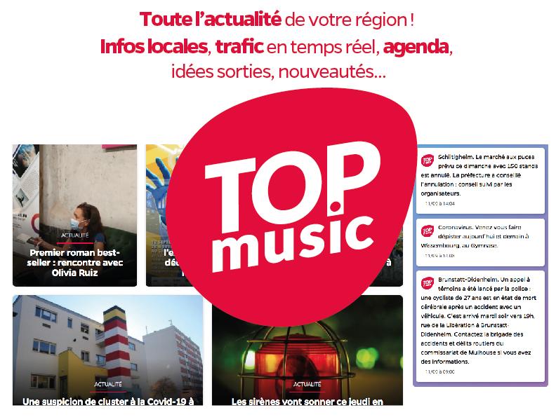 Top Music, le premier sur la région Alsace, toute l'actualité
